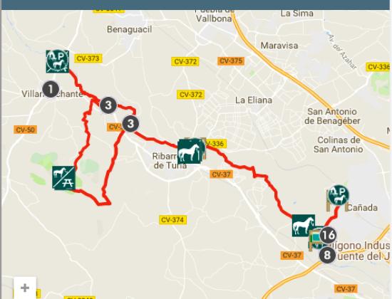 Itinerario Ecuestre por el Túria (IE-031)