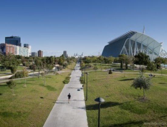 Jardines del Túria en Valencia.